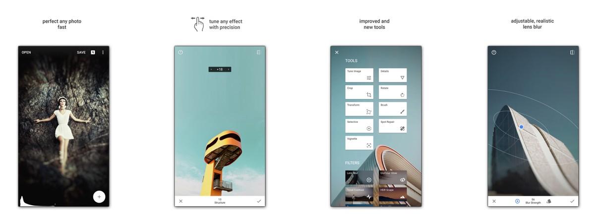 app di editing fotografico Snapseed