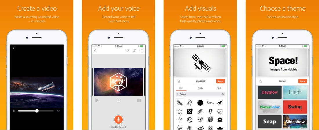 Adobe Voice - video su Instagram