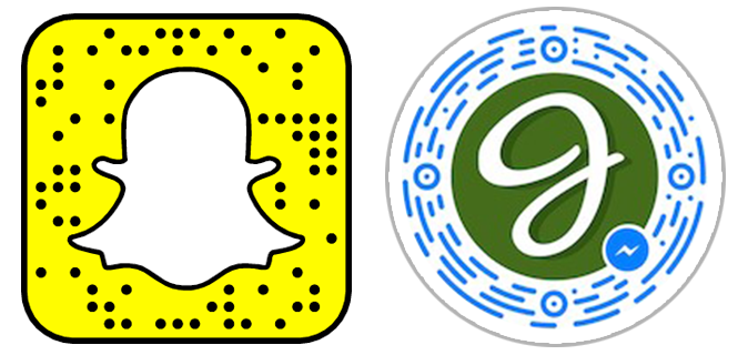 Snapcode vs. Messenger QR code