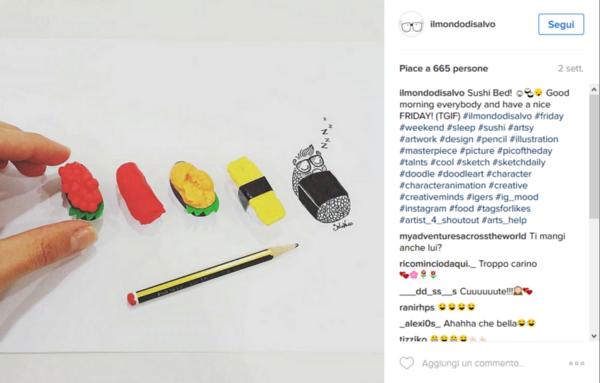 instagram ilmondodisalvo sushi