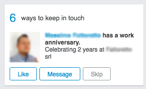 "finestra ""keep in touch"" LinkedIn"