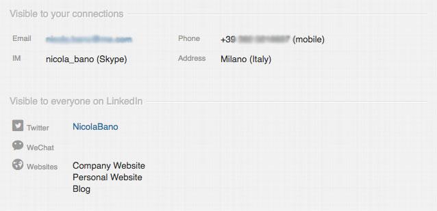 Profilo LinkedIn Nicola Bano