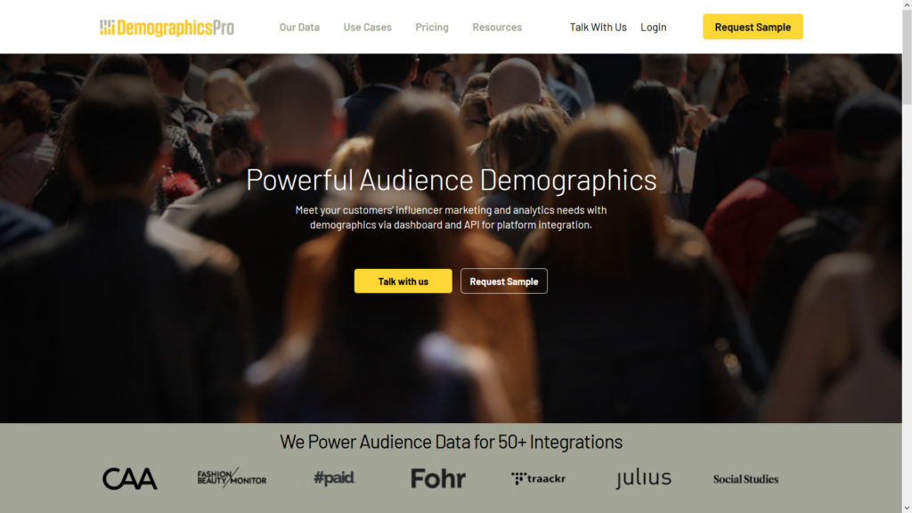 Demographics pro for twitter