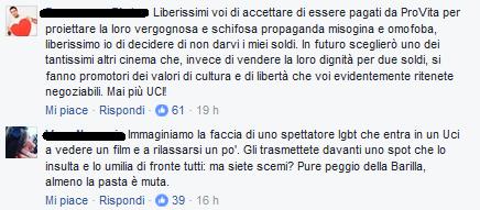UCI Cinemas e lo spot Provita: l'indignazione sui social network