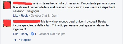 analisi pagina facebook martina dell'ombra comm2