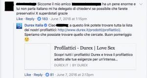 analisi pagina facebook durex 1