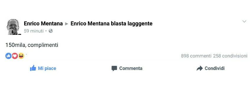 analisi pagina facebook mentana3