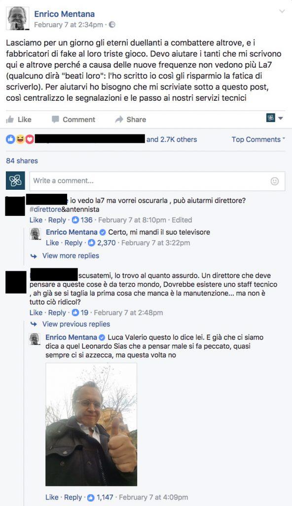 analisi pagina facebook mentana 5