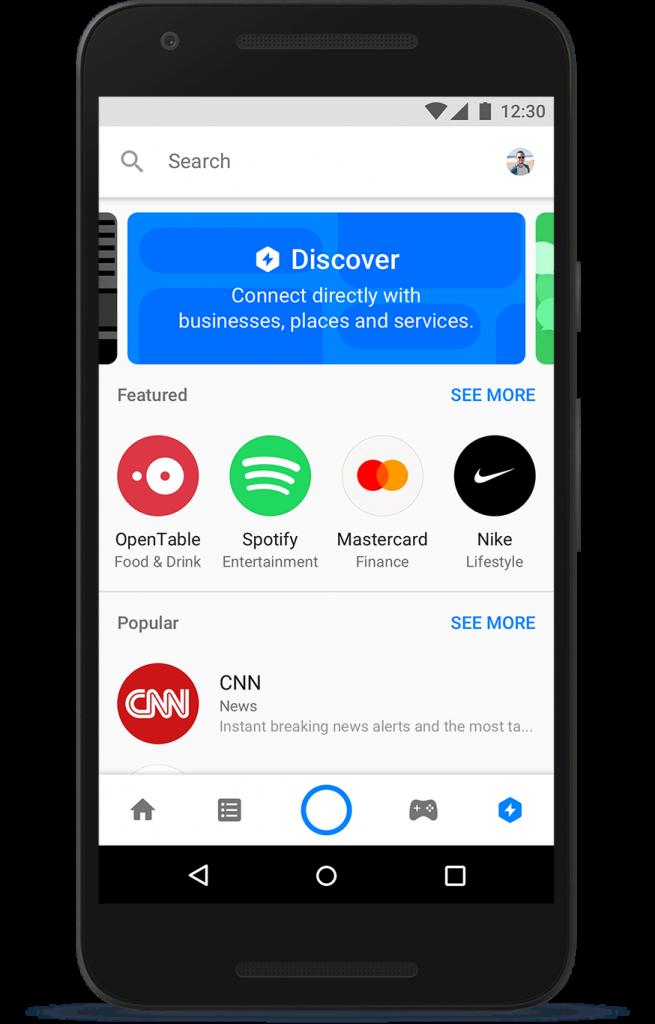 Chatbot discover - Messenger