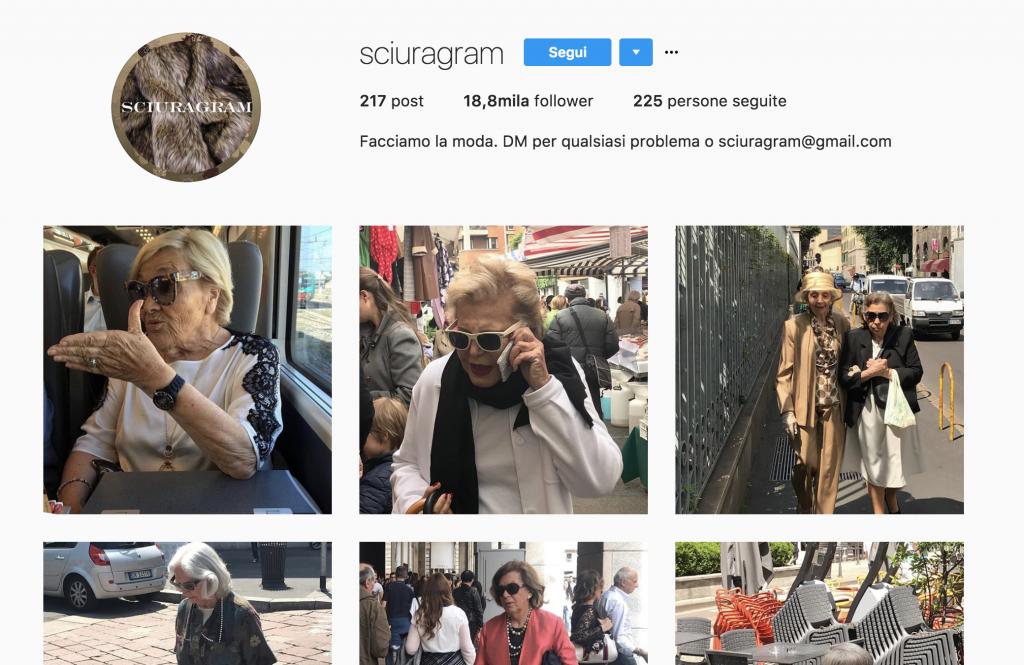 sciuragram profilo instagram successo