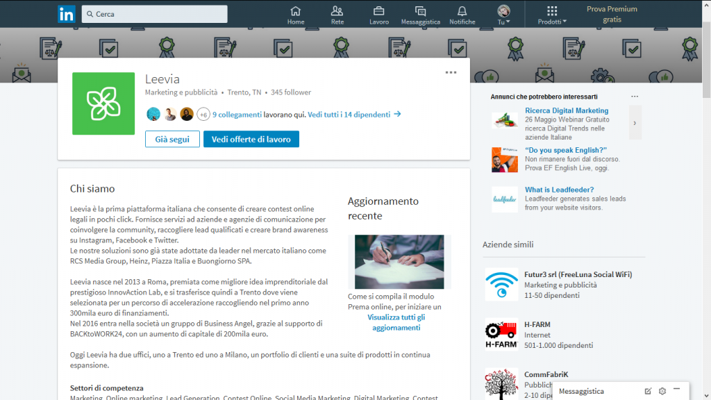 Lead Generation attraverso Linkedin
