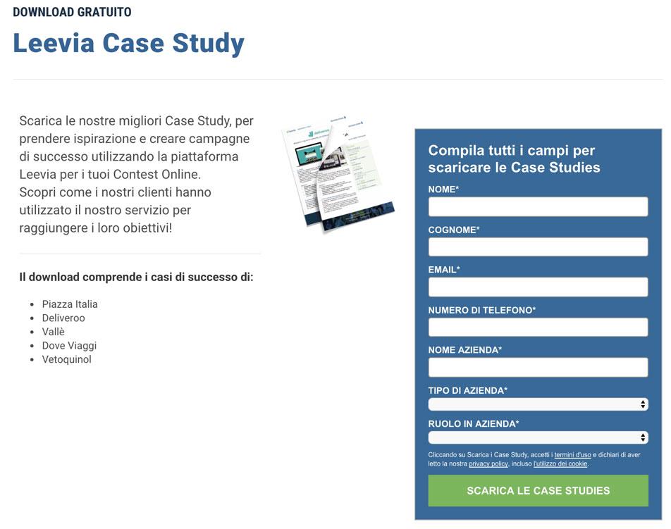 leevia case study - lead generation aziende b2b