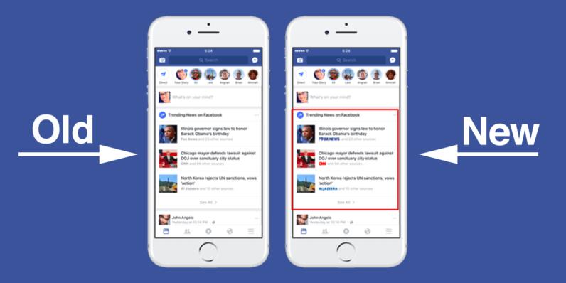 Facebook aggiunge i loghi per i publisher