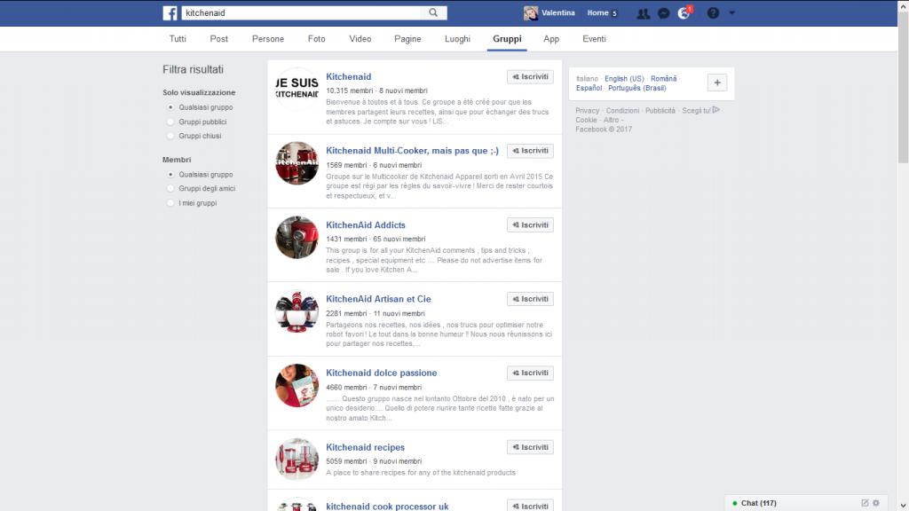 gruppi Facebook community prodotti