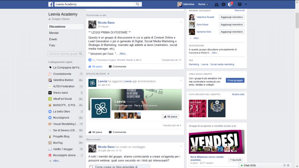 gruppi Facebook autorevolezza
