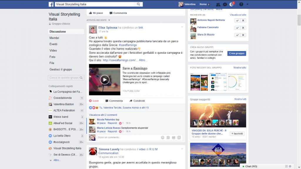 gruppi Facebook tematici