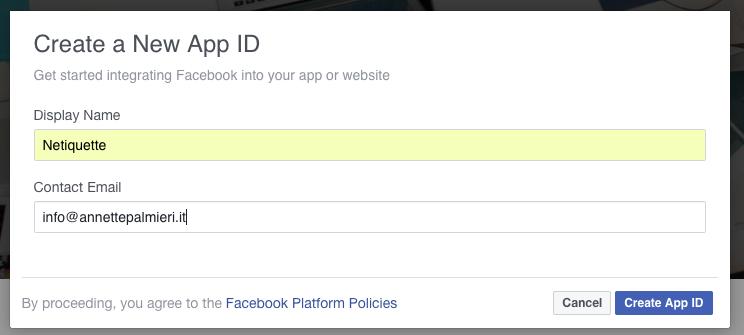 App ID - Facebook