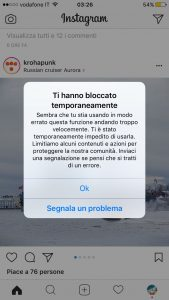 bot instagram blocco
