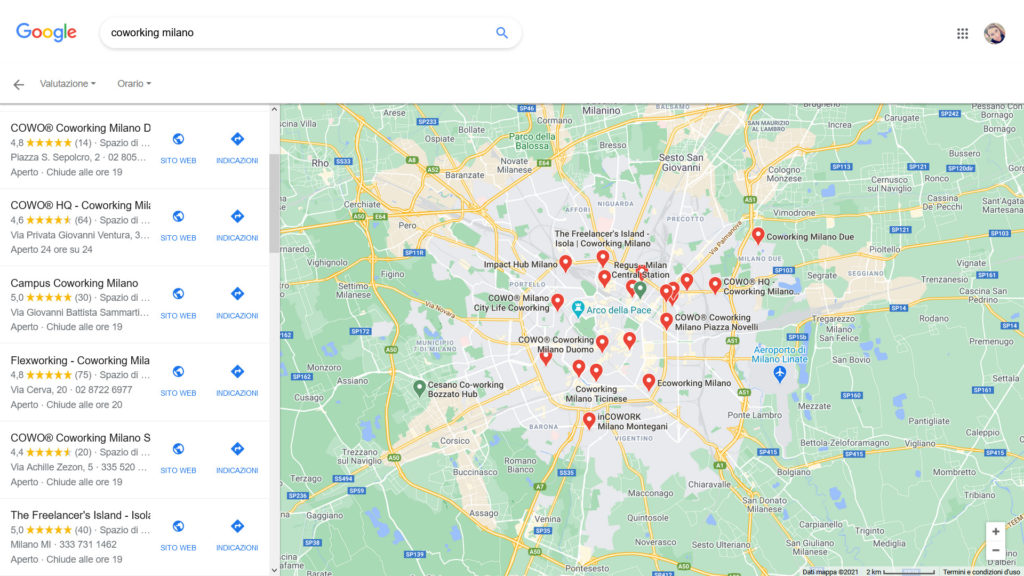 schede google my business