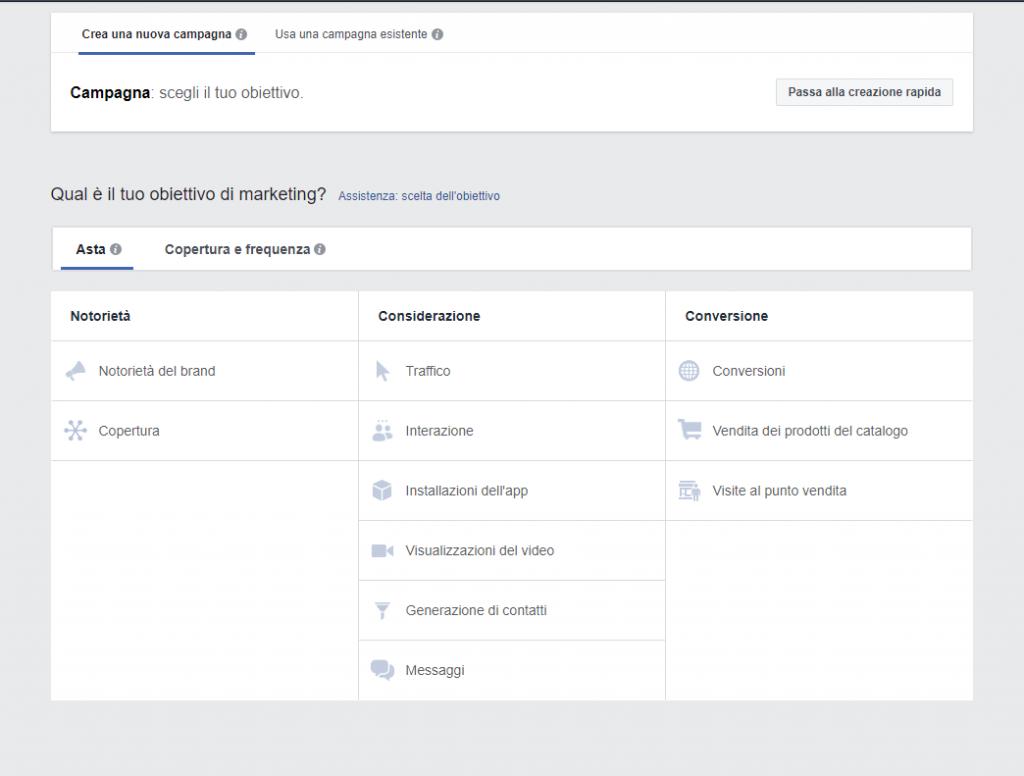 Creazione Facebook Lead ADS