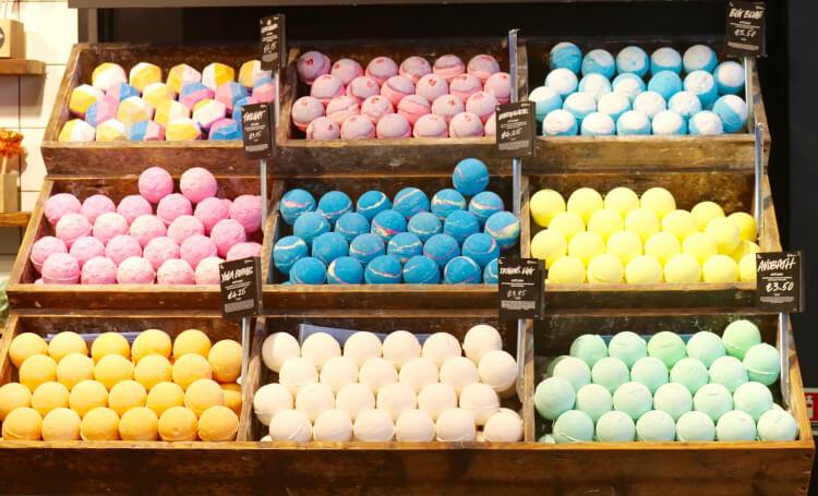 psicologia dei colori negozio lush