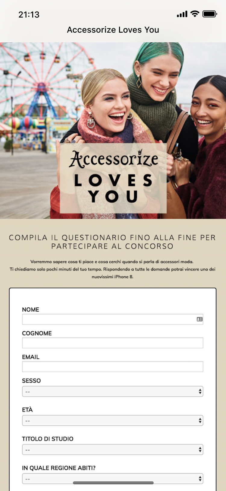 Accessorize - Giveaway - Mobile