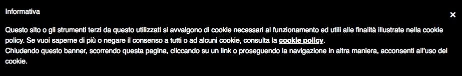 GDPR cookies informativa cookie errata