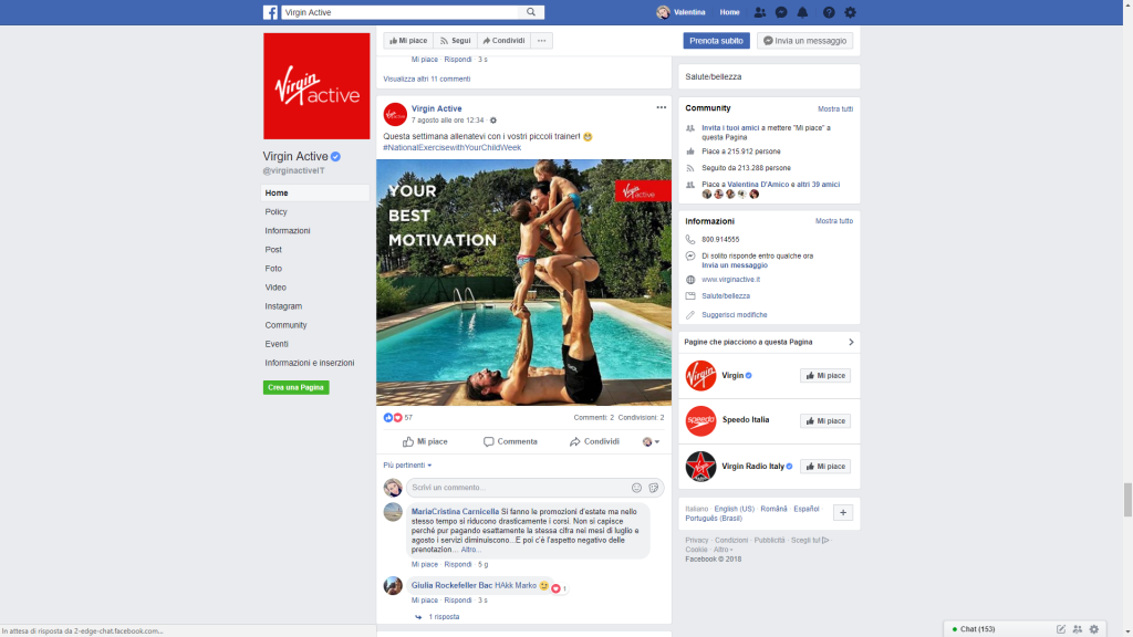 Virgin Active Facebook