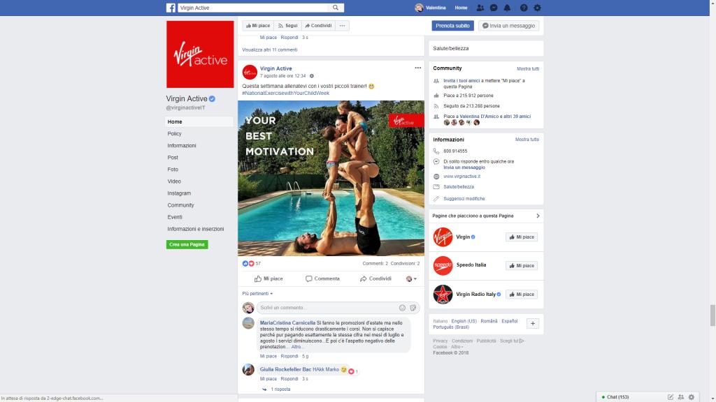 Virgin Active Facebook