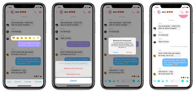 cancellare messaggi Facebook messenger weekly marketing recap
