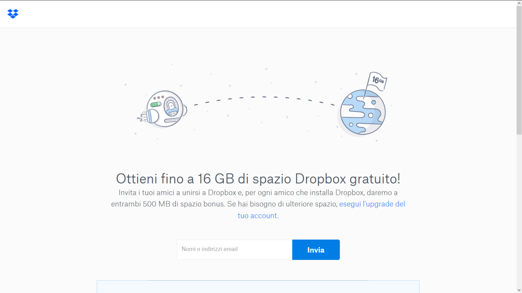 Dropbox programma di referral