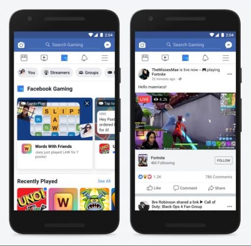 Facebook gaming tab weekly marketing recap