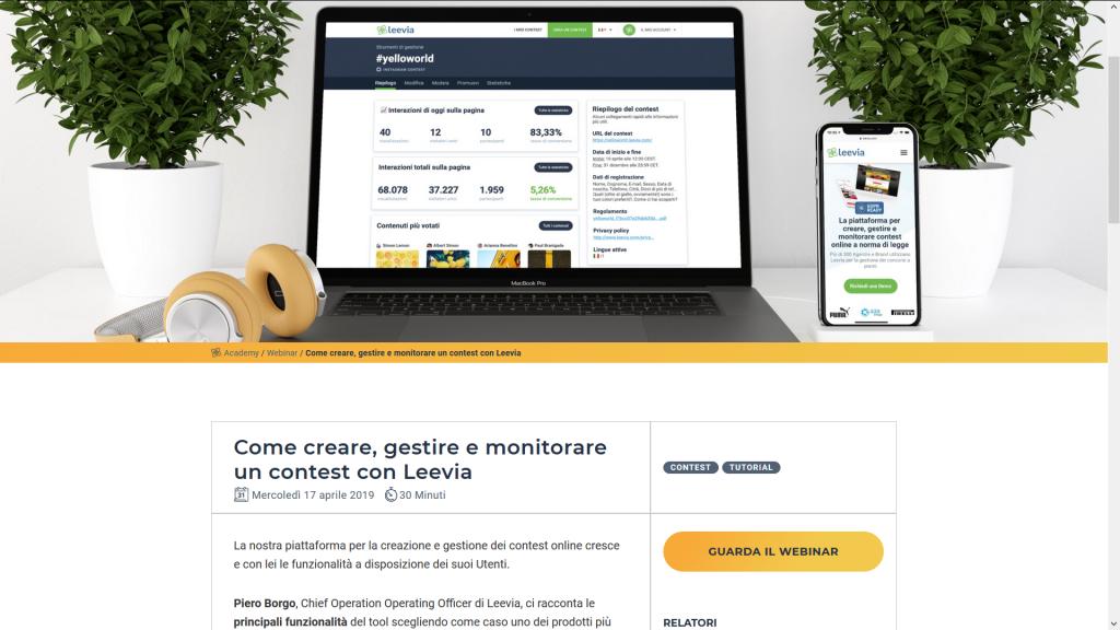 webinar Leevia