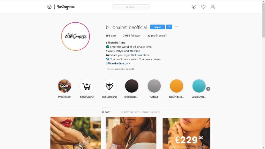 billionaire time Instagram marketing