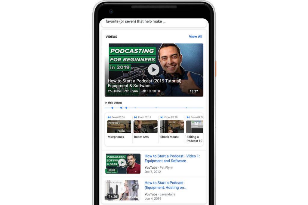 ricerca all'interno dei video google rete di ricerca