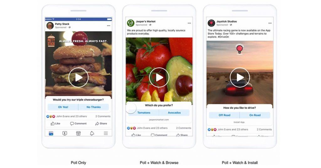sondaggi inserzioni video Facebook