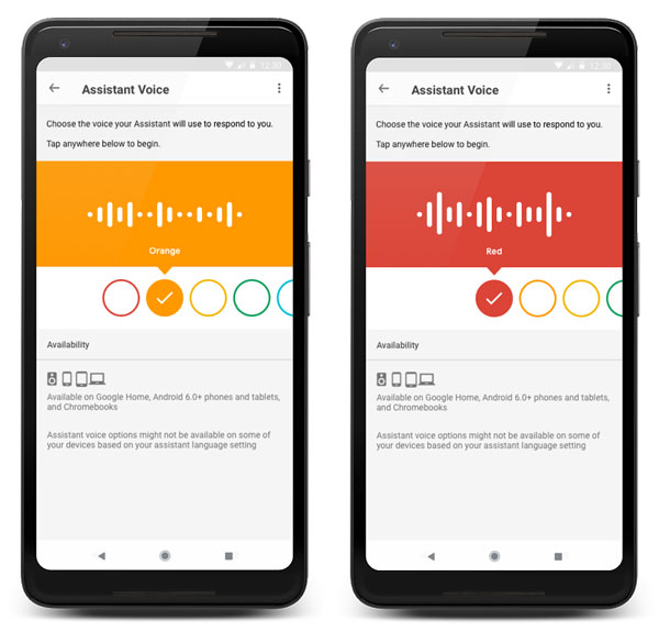 nuove voci Google Assistant