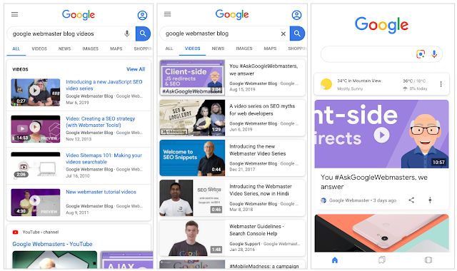 video search console weekly marketing recap