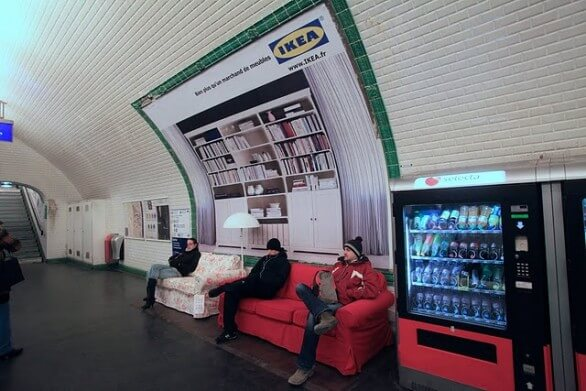 guerrilla marketing ikea metro