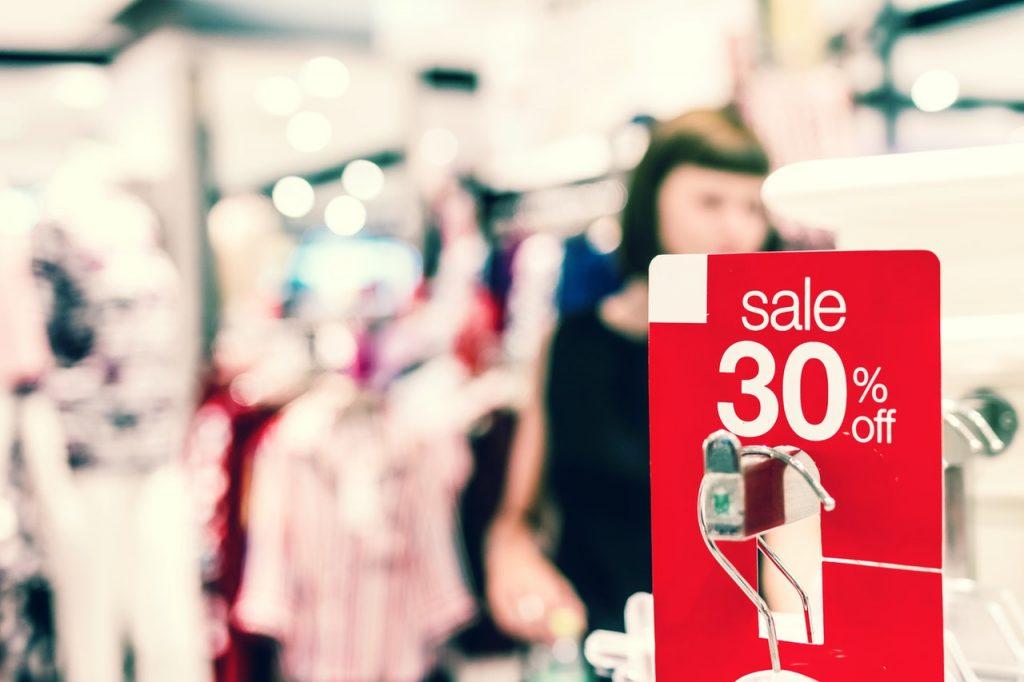 cartellino sconto 30% per marketing natalizio