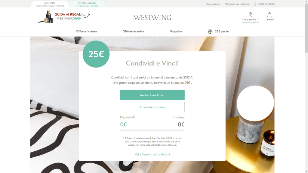 westwing referral marketing