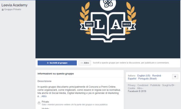 inserzioni gruppi su facebook