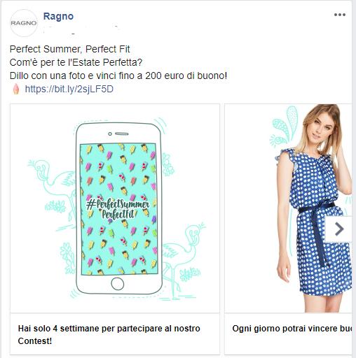 contest fashion ragno instant win