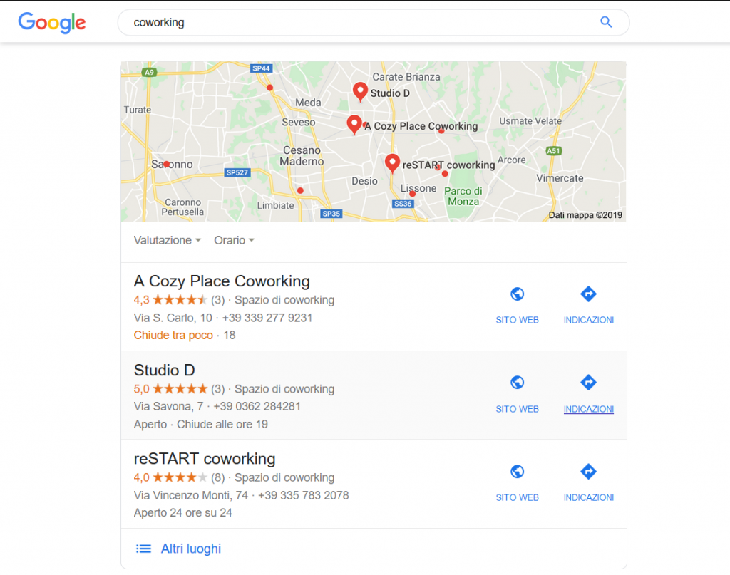 Google local search weekly marketing recap