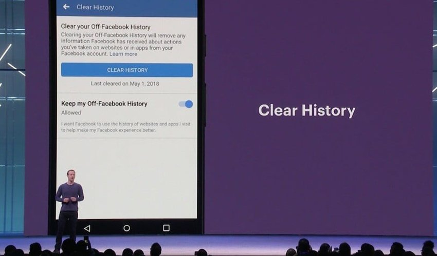 clear history su facebook