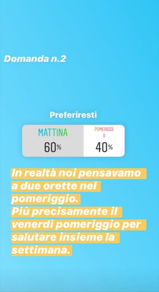 Instagram Stories sondaggio
