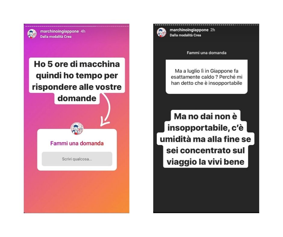 Domande Instagram Stories