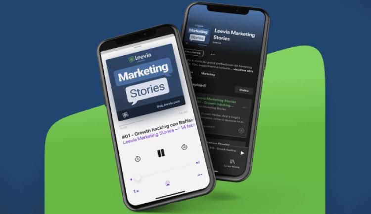 podcast marketing italiani leevia marketing stories