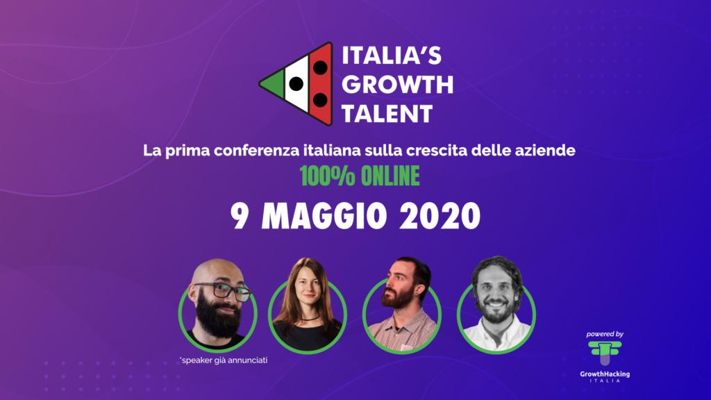 italian growth talent evento online