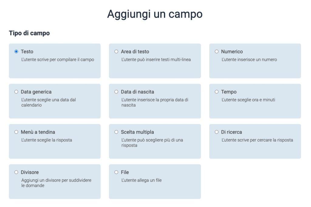 come personalizzare un campo del form di registrazione su Leevia